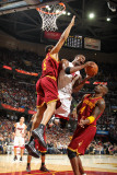 Miami Heat v Cleveland Cavaliers: Ryan Hollins  Antawn Jamison and Chris Bosh