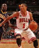 Indiana Pacers v Chicago Bulls: Derrick Rose and Darren Collison