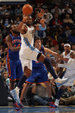 New York Knicks v Denver Nuggets: Ronny Turiaf and Nene