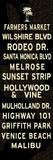 Los Angeles Sign Reproduction d'art