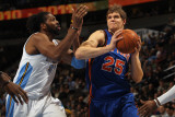 New York Knicks v Denver Nuggets: Timofey Mozgov and Nene