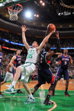 Atlanta Hawks v Boston Celtics: Luke Harangody and Josh Smith