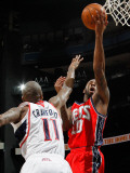 New Jersey Nets v Atlanta Hawks: Jamal Crawford and Damion James