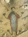 A Yokuts Indian Anthropomorphic Pictograph on a Cave Wall