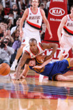 Golden State Warriors v Portland Trail Blazers: David Lee and Dante Cunningham