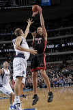 Miami Heat v Dallas Mavericks: Zydrunas Ilgauskas and Dirk Nowitzki