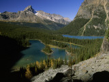Mary Lake and Lake O'Hara Sprawl at the Foot of Wiwaxy Peaks in Yoho National Park