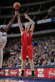 Houston Rockets v Dallas Mavericks: Chase Budinger and Brendan Haywood