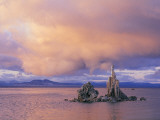 Towers of Calcium Carbonate Called Tufa Stand Above the Lake's Surface