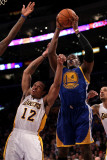 Golden State Warriors v Los Angeles Lakers: Jeff Adrien and Shannon Brown
