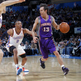 Phoenix Suns v Oklahoma City Thunder: Steve Nash and Russell Westbrook