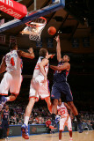 Atlanta Hawks v New York Knicks: Al Horford  Anthony Randolph and Timofey Mozgov