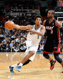 Miami Heat v Washington Wizards: Nick Young and Dwyane Wade