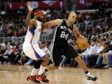 San Antonio Spurs v Los Angeles Clippers: Richard Jefferson and Baron Davis