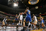 Golden State Warriors v Memphis Grizzlies: Monta Ellis and ris Biedrins and Marc Gasol
