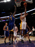 Golden State Warriors v Los Angeles Lakers: Derek Fisher and Dorell Wright