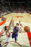 Sacramento Kings v Houston Rockets: Beno Udrih and Luis Scola