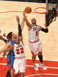 Oklahoma City Thunder v Chicago Bulls: Carlos Boozer  Taj Gibson and Nick Collison