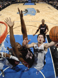 Miami Heat v Orlando Magic: Joel Anthony and JJ Redick