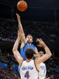 Dallas Mavericks v Oklahoma City Thunder: Jose Barea and Nick Collison