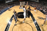 Memphis Grizzlies v San Antonio Spurs: OJ Mayo and Tim Duncan
