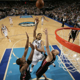 Miami Heat v Dallas Mavericks: Tyson Chandler  Zydrunas Ilgauskas and Chris Bosh