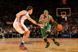 Boston Celtics v New York Knicks: Paul Pierce and Danilo Gallinari