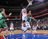 Boston Celtics v Philadelphia 76ers: Ray Allen  Semih Erden and Elton Brand