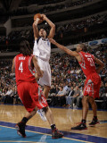 Houston Rockets v Dallas Mavericks: Dirk Nowitzki  Luis Scola and Shane Battier