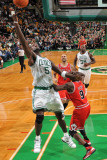 Chicago Bulls v Boston Celtics: Kevin Garnett and Luol Deng