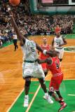Chicago Bulls v Boston Celtics: Kevin Garnett and Luol Deng