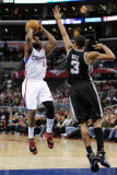 San Antonio Spurs v Los Angeles Clippers: Baron Davis and George Hill