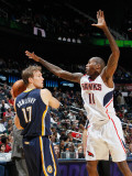 Indiana Pacers v Atlanta Hawks: Jamal Crawford and Mike Dunleavy