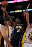 Indiana Pacers v Los Angeles Lakers: Pau Gasol  Roy Hibbert and Matt Barnes