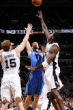 Orlando Magic v San Antonio Spurs: JJ Redick  Matt Bonner and Antonio McDyess