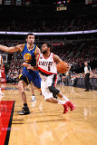 Golden State Warriors v Portland Trail Blazers: Vladimir Radmanovic and Patrick Mills