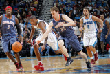 Charlotte Bobcats v New Orleans Hornets: Trevor Ariza and Matt Carroll