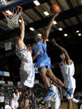 Tulsa 66ers v Texas Legends: Zabian Dowdell and Matt Rogers