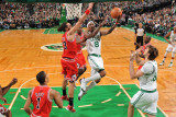 Chicago Bulls v Boston Celtics: Marquis Daniels and Joakim Noah
