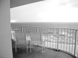 View of the Ocean from a Condo Balcony