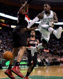 Portland Trail Blazers v Boston Celtics: Nate Robinson and LaMarcus Aldridge