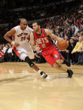New Jersey Nets v Toronto Raptors: Jordan Farmar and Leandro Barbosa