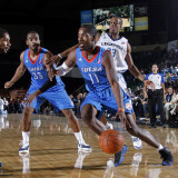Tulsa 66ers v Texas Legends: Jerome Dyson  Antonio Daniels and Marcus Lewis