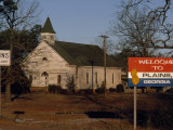 The Sign Welcoming Visitors to Plains  Georgia