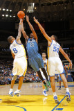 Minnesota Timberwolves v Golden State Warriors: Corey Brewer  Monta Ellis and Dan Gadzuric