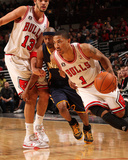 Indiana Pacers v Chicago Bulls: Derrick Rose  TJ Ford and Joakim Noah
