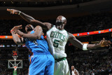 Oklahoma City Thunder v Boston Celtics: Serge Ibaka and Kevin Garnett