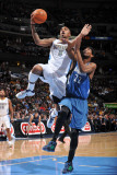 Minnesota Timberwolves v Denver Nuggets: JR Smith and Corey Brewer