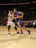 New York Knicks v Toronto Raptors: Danilo Gallinari and Leandro Barbosa