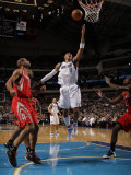 Houston Rockets v Dallas Mavericks: Shawn Marion  Shane Battier and Jordan Hill